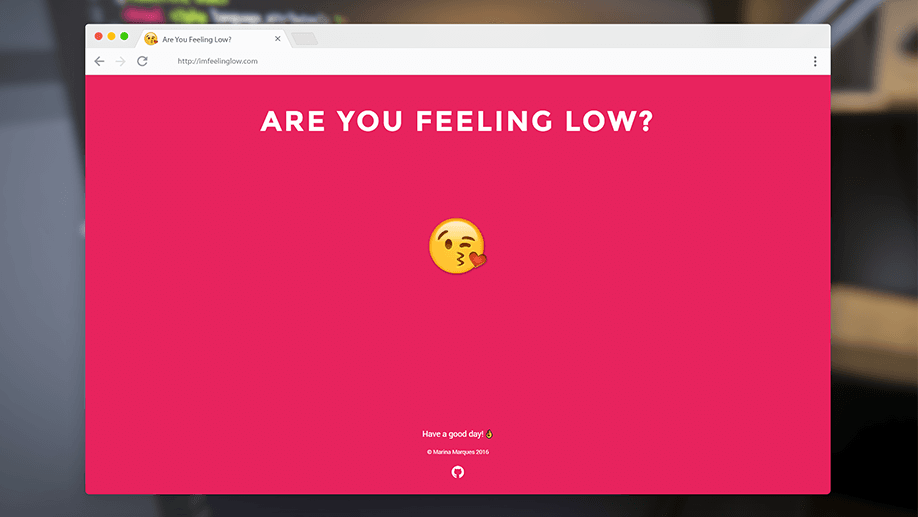 Portfolio - ARE YOU FEELING LOW?